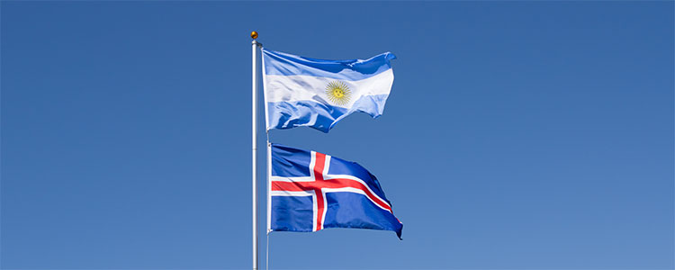 Group D: Argentina and Iceland - World Cup 2018 Flags
