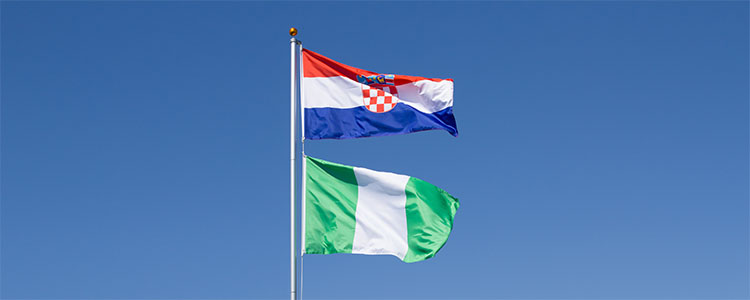 Group D: Croatia and Nigeria - World Cup 2018 Flags