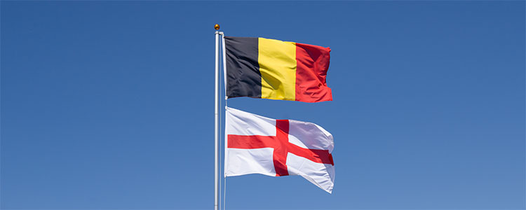 Group G: Belgium and England - World Cup 2018 Flags