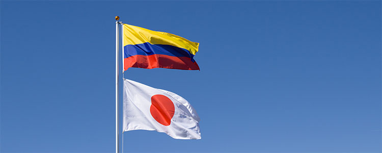 Group H: Colombia and Japan - World Cup 2018 Flags