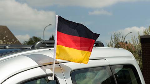 Deutschland - Autofahne 30 x 40 cm