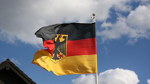 Deutschland Dienstflagge - Flagge 150 x 250 cm