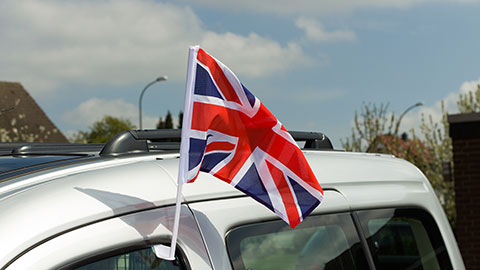 Great Britain - Car Flag 12x16""