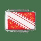 Drapeau avec cordelettes Alsace - 20 x 30 cm