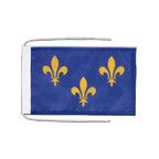 Drapeau avec cordelettes Île-de-France - 20 x 30 cm