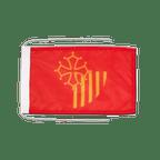 Languedoc Roussillon - Flagge 20 x 30 cm