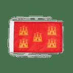 Drapeau avec cordelettes Poitou Charentes - 20 x 30 cm