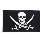Pirate with two swords - Premium Flag 3x5 ft CV