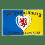 Braunschweig Für immer blau gelb - Flagge 90 x 150 cm