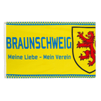 Braunschweig Meine Liebe mein Verein - Flagge 90 x 150 cm