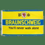 Braunschweig You'll never walk alone - Flagge 90 x 150 cm