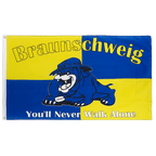 Braunschweig Bulldogge, You'll never walk alone - Flagge 90 x 150 cm