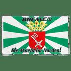 Bremen with medium crest, Macht im Norden - 3x5 ft Flag