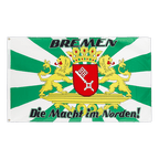 Bremen großes Wappen, Macht im Norden - Flagge 90 x 150 cm