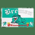 Bremen Bulldogge Weserpower - Flagge 90 x 150 cm