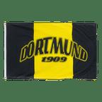 Dortmund 1909 mit drei Streifen senkrecht - Flagge 90 x 150 cm