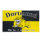 Dortmund Bulldogge, Nr. 1 aus dem Pott - Flagge 90 x 150 cm