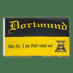 Dortmund Förderturm, Die Nr. 1 im Pott sind wir - Flagge 90 x 150 cm