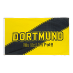 Dortmund Nr. 1 im Pott, Three diagonal stripes - 3x5 ft Flag