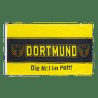 Dortmund Nr. 1 im Pott, Three horizontal stripes - 3x5 ft Flag