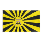 Dortmund Rising Sun with coal mine tower - 3x5 ft Flag