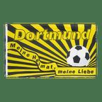 Dortmund Meine Heimat meine Liebe - Flagge 90 x 150 cm