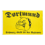 Dortmund Schwarz-Gelb ist der Ruhrpott - Flagge 90 x 150 cm