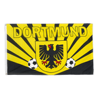 Dortmund two soccer balls with city arms - 3x5 ft Flag