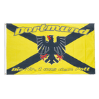 Dortmund mit Wappen, Die Nr. 1 aus dem Pott - Flagge 90 x 150 cm