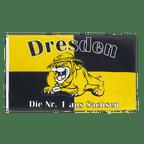Dresden Bulldogge, Die Nr. 1 aus Sachsen - Flagge 90 x 150 cm