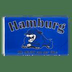 Drapeau Hambourg bouledogue, Die Macht von der Elbe - 90 x 150 cm