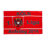 Köln Aufstieg 2014 - Flagge 90 x 150 cm