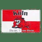 Köln Bulldogge, Die Nr. 1 vom Rhein - Flagge 90 x 150 cm