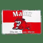 Mainz Bulldogge, Die Nr. 1 vom Rhein - Flagge 90 x 150 cm