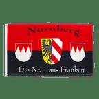 Nürnberg Die Nr. 1 aus Franken - Flagge 90 x 150 cm