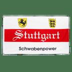 Stuttgart Schwabenpower - Flagge 90 x 150 cm