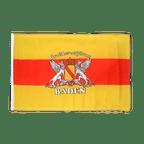 Petit drapeau Bade avec Blason - 30 x 45 cm