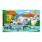 Biergarten - Flagge 90 x 150 cm