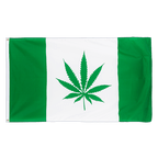 Canada with Marijuana - 3x5 ft Flag