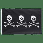 Pirate Three Skulls - 3x5 ft Flag