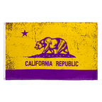 USA California Purple-Gold - 3x5 ft Flag