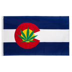 USA Colorado Marijuana - 3x5 ft Flag