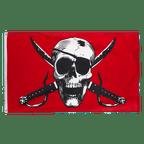 Crimson Pirate - 3x5 ft Flag