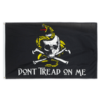 Pirate Don't tread on me - 3x5 ft Flag