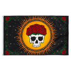 Skull with roses - 3x5 ft Flag