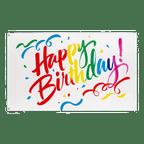 Happy Birthday colorful - 3x5 ft Flag
