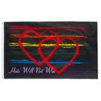 Rainbow Hate Will Not Win - 3x5 ft Flag