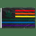 Marijuana USA Leaf Rainbow - 3x5 ft Flag