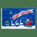 Merry Christmas Sleigh - 3x5 ft Flag