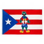 Puerto Rico Frog - 3x5 ft Flag
